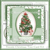 Fireside Christmas Tree Card Front