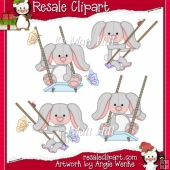 Swing Bunnies Grey