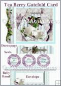 Cottage Chic Tea Berry Gatefold Card Set