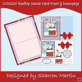 CCDS24 ROOFTOP SANTA CARD FRONT & DECOUPAGE