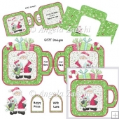 Father Christmas Cup Shape Card