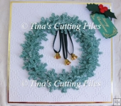 Christmas Snowflake Wreath card / gift Topper