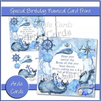 Special Birthday Nautical Card Front