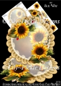Stunning Sunflowers Scalloped Round Easel Card Mini Kit