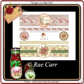 PS191 Christmas Mouse and Poinsettia Bottle Wraps