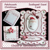 Patchwork Christmas - Scalloped Easel Card