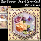 Rosy Summer - Shaped Layers Card