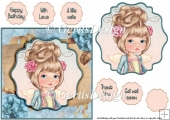 Little Angel Sweetheart card topper 6 inch 117