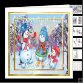 Snowmen Walk 7 x 7 Mini kit