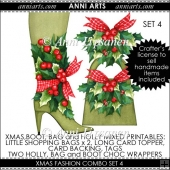 Xmas Fashion: Boot, Bag and Holly Combo Set 4