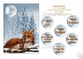 Christmas Fox - 5 x 7 Card Topper & Assorted Greetings - PU 300