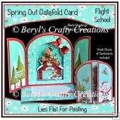 Spring Out Gatefold Card - Flight School