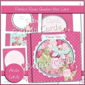 Perfect Roses Shadow Box Card