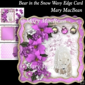 Bear in the Snow Wavy Edge Card
