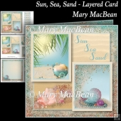 Sun, Sea, Sand - :Layered Card