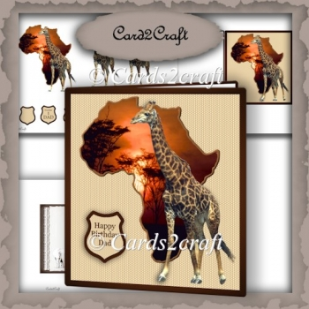 Out of Africa Card and insert