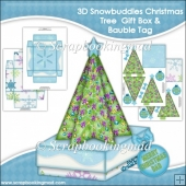 3D Snowbuddies Christmas Tree Gift Box