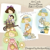 Ready to Print A5 Cards Bonnie Blooms BIRTHDAY(Retiring in July)