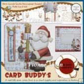 Here Comes Santa Decoupage Shaped Fold Card Kit