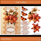 Fall Lillies - Card Front