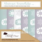 Abstract Snowflake - 6 Abstract Snow A4 Digital Design Sheets