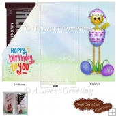 Easter Birthday Small Candy Bar Card