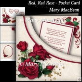 Red, Red Rose - Pocket Card