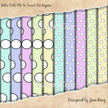 Retro Dots Oh So Sweet A4 Papers