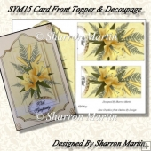 SYM15 Floral Rectangle Topper