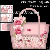 Pink Flowers - Bag Card
