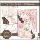Grin N Bear It Scalloped Pocket Card