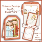 Christmas Blessings Pop Out Banner Card