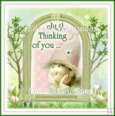 Just Thinking of You Shadowbox Open Window Card and Envelope Set