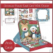 Christmas Friends Easel Card With Drawer