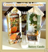 Set of 2 Country Sunshine Garden Theme Luminary Projects