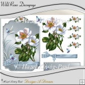 Wild Roses Decoupage Topper/Card Front