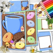 Tea & Biscuits Asymmetric Card