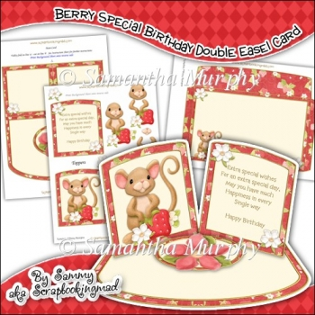 Berry Special Birthday Double Easel Card Download
