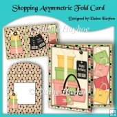 Shopping Asymmetric Fold Birthday Card