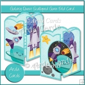 Galaxy Quest Scalloped Gate Fold Card