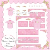 Baby Girl Chest Of Drawers Card