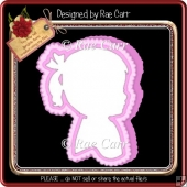 852 Girl Shaped Card *Multiple MACHINE Formats*