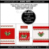 JOLLY HOLLY CHOC WRAP SET