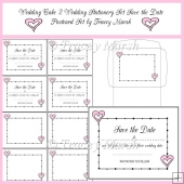 Wedding Cake 2 Wedding Stationery Set Save the Date Postcard Set