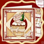 CHAMPAGNE CUPCAKE 7.5 All Occasions Decoupage & Insert Kit