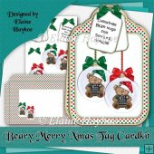 Beary Merry Xmas Large Tag Shaped Cardkit
