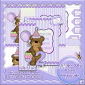 Birthday Babs Age 2 A5 Shaped Foldback Card