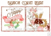 Fashion Corset Birthday Insert
