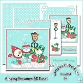 Singing Snowmen 3D Patterned Corner Easel.