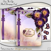 Over The Edge Floral Decoupage Card Front/Topper